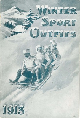 Front cover of Dickins & Jones Ltd Winter Sports catalogue, 1913