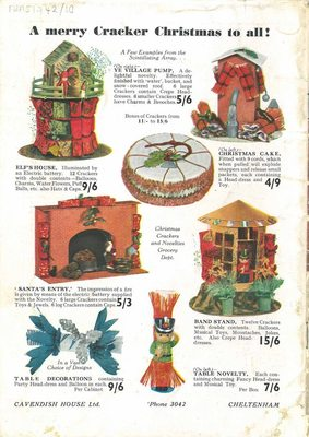 Back cover of Cavendish House Co Ltd Christmas Gift catalogue, c1940s.