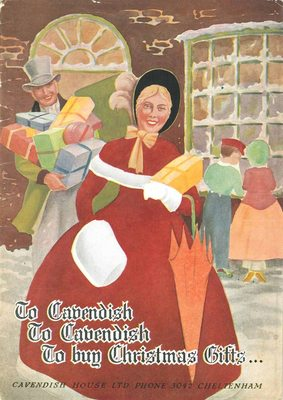 Front cover of Cavendish House Co Ltd Christmas Gift catalogue, c1940s.