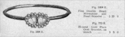 Bracelet detail from the Army and Navy Co-operative Society Ltd Price List, 1908.