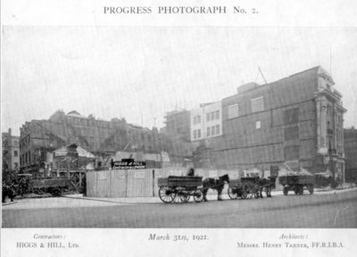 Dickins and Jones in the progress of being built in London, 1921
