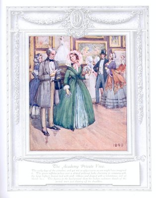 'The academy private view' (1849). 'Upwards of a Century'. Dickins and Jones catalogue illustrating 100 years of fashion, 1909.