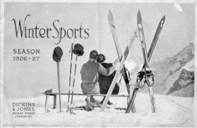 Front cover of the Dickins and Jones winter sports season catalogue, 1926-27.