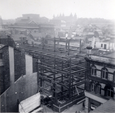 Rebuilding William Henderson & Sons after fire 1962