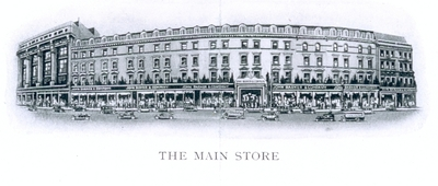 Drawing of John Barker & Co store exterior 1930