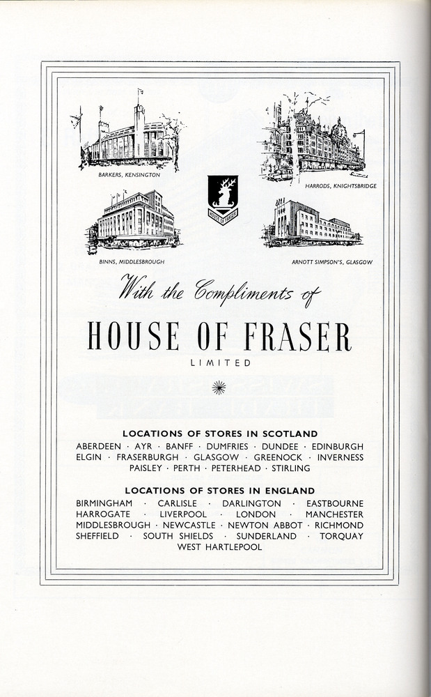 House of fraser archive image house of fraser for Quality classic house of fraser
